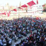 الشعبية شمال غزة تنظم مهرجاناً جماهيرياً حاشداً في بيت حانون