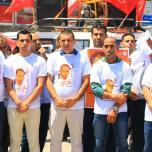 الشعبية في غزة تنظم مسيرة جماهيرية حاشدة دعماً وإسناداً للأسير القائد بلال كايد