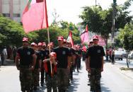 مسيرة جماهيرية حاشدة في الذكرى السنوية السادسة لإستشهاد القائد الوطني والقومي الكبير ابو علي مصطفى في قطاع غزة