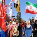 لجنة المتابعة للقوى بغزة تنظم وقفة تضامنية مع سورياً تنديداً بالعدوان الثلاثي عليها