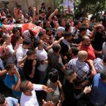تشييع جثمان الشهيد معتز زواهرة في بيت لحم