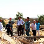 وفد قيادي من الجبهة الشعبية يتفقد الدمار في محافظة خانيونس ورفح