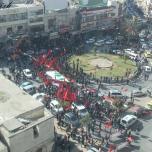 مسيرة مركزية في نابلس