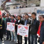 جبهة العمل الطلابي في غزة تنظم أضخم مسير طلابي
