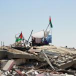 وفد قيادي من الجبهة الشعبية يتفقد الدمار في مدينة غزة والمحافظة الوسطى
