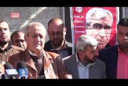 وقفة إسنادية مع الأسرى الصحفيين بالتزامن مع إضراب الصحفي محمد القيق والافراج عن الصحفي عمر نزل