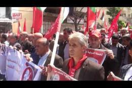 الجبهة الشعبية تشارك  بحشد جماهيري في مسيرة يوم الأسير الفلسطيني