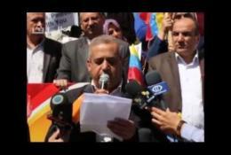 الشعبية بالقطاع تنظم وقفة تضامنية حاشدة مع فنزويلا ضد الهجمة الامبريالية الأمريكية