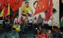 مسيرة حاشدة ومؤتمر صحفي في عصيرة الشمالية تضامنا مع الاسير بلال كايد