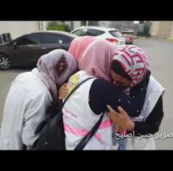 وداع الشهيدة المسعفة رزان النجار التي ارتقت أثناء تأديتها عملها في مخيم العودة شرق #خانيونس #رزان_شه
