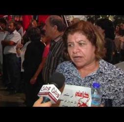 مسيرة حاشدة للجبهة الشعبية تضامنا مع الأسير بلال كايد وضد الاعتقال الاداري