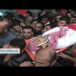 الالاف تشيعون جثمان شهيد مخيم العروب اليوم 11 - 11 - 2014    #HEBRON