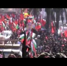 عرض عسكري للكتائب في الذكرى 13 لاستشهاد القائد ابو علي مصطفى بغزة