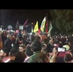 آلاف الفلسطينيين يستقبلون القائد بلال كايد في عصيرة الشمالية