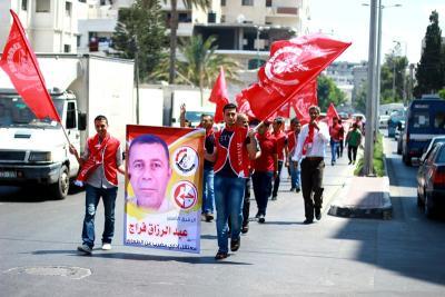 طلائع غسان كنفاني وجبهة العمل الطلابي في اسنادهم للاسرى _ تصوير خالد ابوالجديان (29084565) 