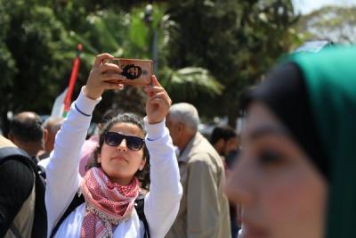 لجنة المتابعة للقوى بغزة تنظم وقفة تضامنية مع سورياً (12)