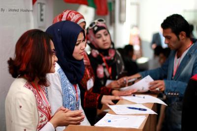فعاليات جبهة العمل في جامعات غزة _ تصوير خالد ابو الجديان (29084578) 