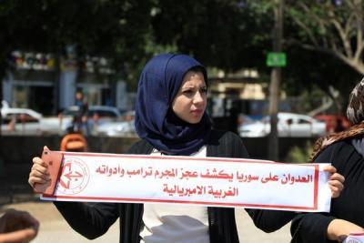 لجنة المتابعة للقوى بغزة تنظم وقفة تضامنية مع سورياً (3)