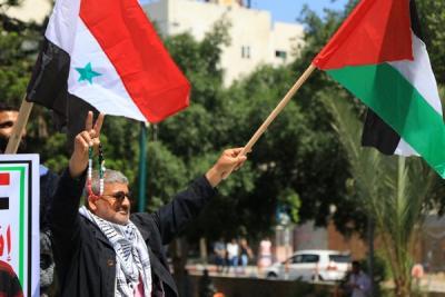 لجنة المتابعة للقوى بغزة تنظم وقفة تضامنية مع سورياً (2)