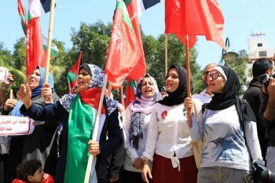 لجنة المتابعة للقوى بغزة تنظم وقفة تضامنية مع سورياً (10)