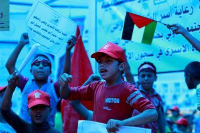طلائع غسان كنفاني وجبهة العمل الطلابي في اسنادهم للاسرى _ تصوير خالد ابوالجديان (29084554) 