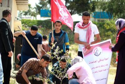 فعاليات جبهة العمل في جامعات غزة _ تصوير خالد ابو الجديان (29084562) 