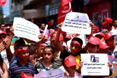 طلائع غسان كنفاني وجبهة العمل الطلابي في اسنادهم للاسرى _ تصوير خالد ابوالجديان (29084574) 