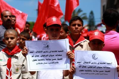 طلائع غسان كنفاني وجبهة العمل الطلابي في اسنادهم للاسرى _ تصوير خالد ابوالجديان (29084571) 
