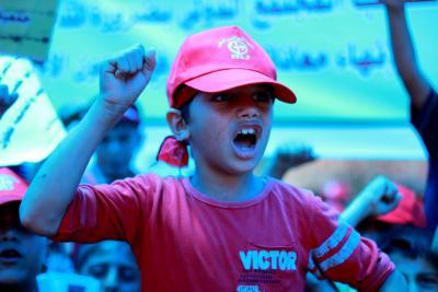 طلائع غسان كنفاني وجبهة العمل الطلابي في اسنادهم للاسرى _ تصوير خالد ابوالجديان (29084556) 