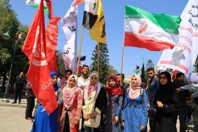 لجنة المتابعة للقوى بغزة تنظم وقفة تضامنية مع سورياً (18)