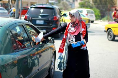 طلائع غسان كنفاني وجبهة العمل الطلابي في اسنادهم للاسرى _ تصوير خالد ابوالجديان (29084564) 