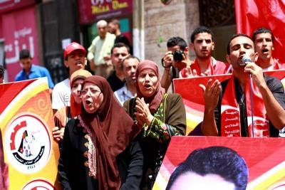 فعاليات جبهة العمل في جامعات غزة _ تصوير خالد ابو الجديان (29084590) 
