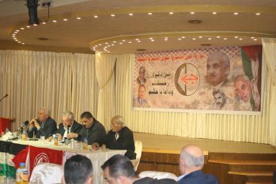 الشعبية في نابلس تنظم ندوة سياسية بعنوان القضية الفلسطينية إلى أين ؟ (38)