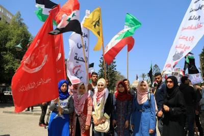 لجنة المتابعة للقوى بغزة تنظم وقفة تضامنية مع سورياً (16)