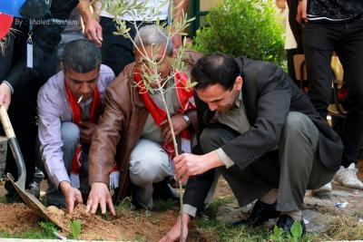 فعاليات جبهة العمل في جامعات غزة _ تصوير خالد ابو الجديان (29084556) 