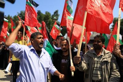 لجنة المتابعة للقوى بغزة تنظم وقفة تضامنية مع سورياً (5)
