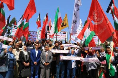 لجنة المتابعة للقوى بغزة تنظم وقفة تضامنية مع سورياً (9)