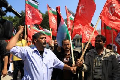 لجنة المتابعة للقوى بغزة تنظم وقفة تضامنية مع سورياً (4)