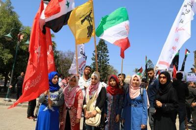 لجنة المتابعة للقوى بغزة تنظم وقفة تضامنية مع سورياً (17)