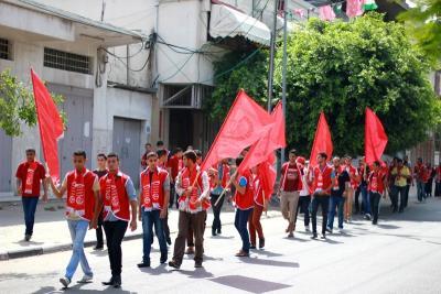 فعاليات جبهة العمل في جامعات غزة _ تصوير خالد ابو الجديان (29084579) 