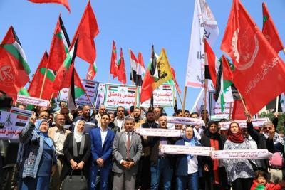 لجنة المتابعة للقوى بغزة تنظم وقفة تضامنية مع سورياً (6)