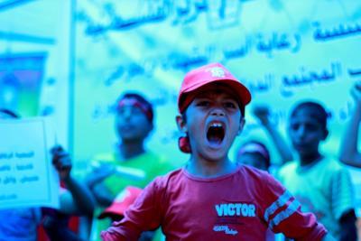 طلائع غسان كنفاني وجبهة العمل الطلابي في اسنادهم للاسرى _ تصوير خالد ابوالجديان (29084553) 