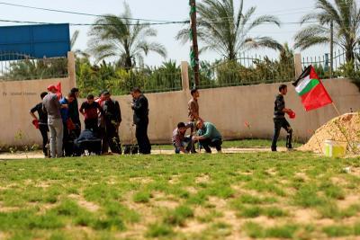 فعاليات جبهة العمل في جامعات غزة _ تصوير خالد ابو الجديان (29084557) 