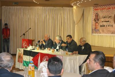 الشعبية في نابلس تنظم ندوة سياسية بعنوان القضية الفلسطينية إلى أين ؟ (37)