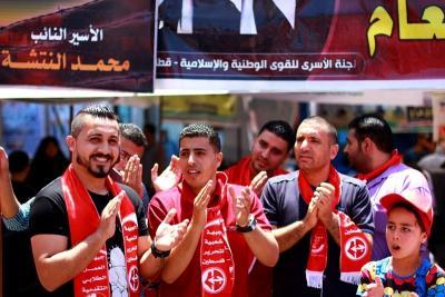 فعاليات جبهة العمل في جامعات غزة _ تصوير خالد ابو الجديان (29084581) 