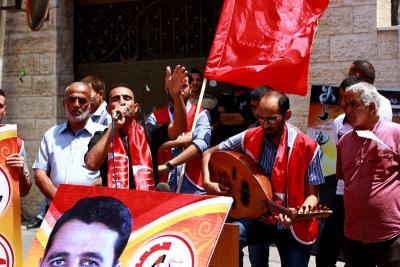طلائع غسان كنفاني وجبهة العمل الطلابي في اسنادهم للاسرى _ تصوير خالد ابوالجديان (29084579) 