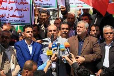 لجنة المتابعة للقوى بغزة تنظم وقفة تضامنية مع سورياً (14)