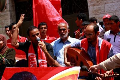 طلائع غسان كنفاني وجبهة العمل الطلابي في اسنادهم للاسرى _ تصوير خالد ابوالجديان (1)
