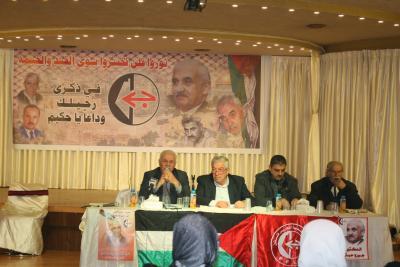 الشعبية في نابلس تنظم ندوة سياسية بعنوان القضية الفلسطينية إلى أين ؟ (40)