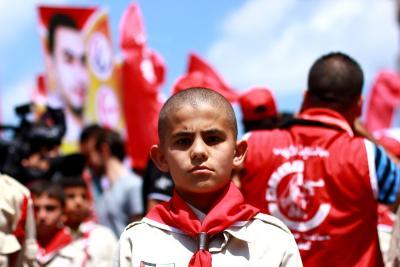 طلائع غسان كنفاني وجبهة العمل الطلابي في اسنادهم للاسرى _ تصوير خالد ابوالجديان (29084570) 